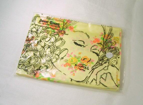 Vintage Luxury Satin Pillowcase Sweet Dream Yellow Floral