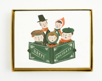 Holiday Carollers Card 8pcs