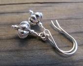 Sophisticated Boho, Sterling Silver Fluted Rondelle Earrings
