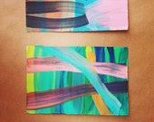 Acrylic paintings on paper