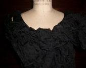 Artsy Lightweight Silk Organza Scarf Fashion Forward, Crinklly, Organic, Ethreal, Cover Up,Shawl, Fancy, Dressy  Made to Order