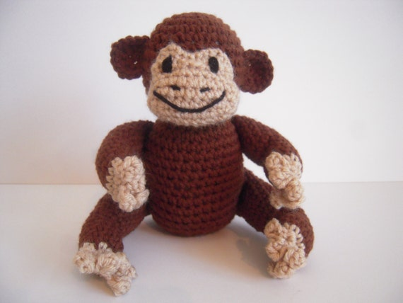 Amigurumi Stuffing : Crocheted Amigurumi Stuffed Monkey