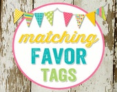 FAVOR TAGS digital and printable file created to match your chosen invite