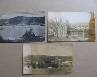3 antique postcards