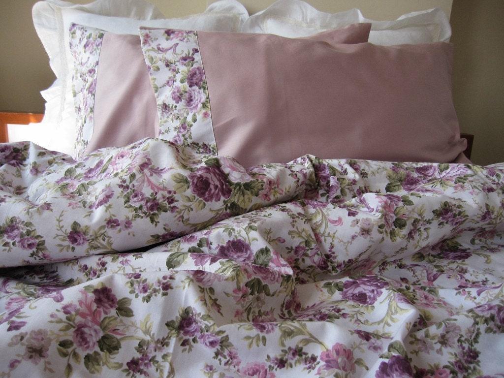 Lavender floral bedding -  Zoom