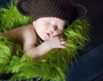 Crochet newborn monkey beanie, newborn prop, photo prop