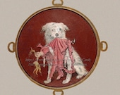 Dog Greeting Card - Puppy Steals Doll - Repro Ida Waugh