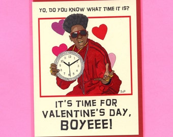 FLAVOR FLAV VALENTINE - Funny Valentine Card - Funny Valentine's Day Card - Funny Valentine - Flavor Flav -  Valentine's Day- Item# V028