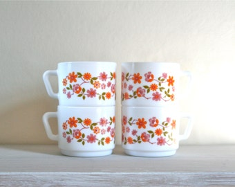CLOSING DOWN SALE - 50% Off Vintage French Arcopal Scania Cups
