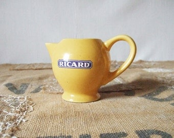 Cute French Ricard Water Pitcher Yellow and Blue