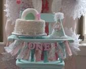 Winter ONEderland Highchair Banner - Birthday Banner - Pink and Mint Birthday - Girls Birthday Banner - Party Decor - Photo Shoot Prop