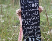 Personalized Scripture Sign ~ Black Chalkboard Paint & White Lettering with a Vintage Feel
