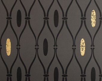 Retro Trellis Wall Stencil - Decorate DIY Wall Art with Custom Wallpaper Pattern