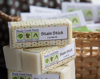 Laundry Stain Remover, Vegan laundry Stain stick -  All Natural - Shady Creek Farm