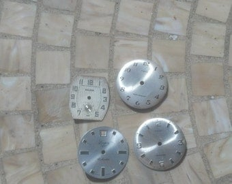 4 Vintage Watch Faces - All Metal - Great for Jewelry