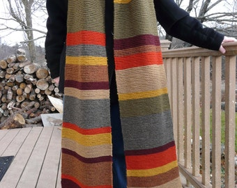 Closing Sale!  Season 12 Doctor Who Scarf 100% Wool