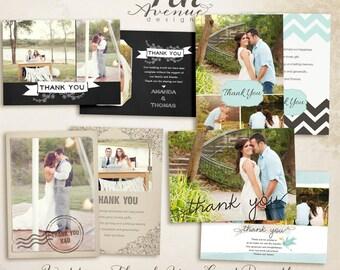 Thank You Card Photo Template Bundle