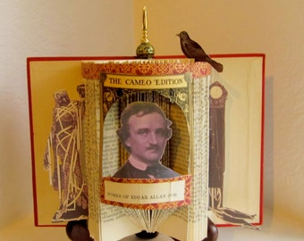 Edgar Allen Poe  altered book The Cameo Edition 1904 Antique Reliquary