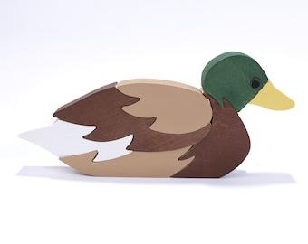 Mallard Duck Toy, Duck Decor, Duck Puzzle