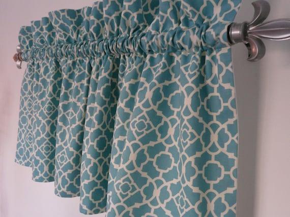 Turquoise Valance Waverly Lovely Lattice By Paisleyladydesigns