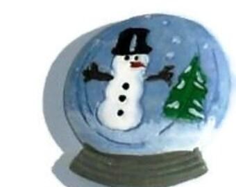 Snowman Globe  Buttons