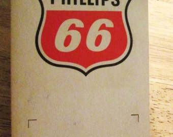 Vintage Phillips 66 Gas Station Sewing Needle Book.  G-266