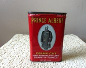Prince Albert Collectible Tobacco Tin Antique Tin 50 to 75 years Old Made in USA R. J. Reynolds Company Man Cave