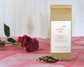 Summer Romance Black & Green Tea • 4 oz. Kraft Bag • Papaya, Strawberry and Sunflower Loose Leaf Blend
