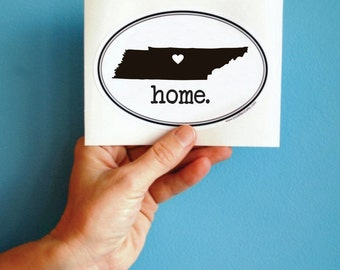 tennessee home (or any state) vinyl bumper sticker