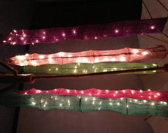 Hanging cotton net 1.5 m. with 20 Bulbs string lights Classic Thai style Patio,Wedding,Party, Gift and Decoration