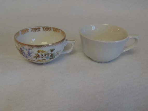 2 Vintage Porcelain DEMITASSE CUPS.. Arabia Finland & KPM Germany