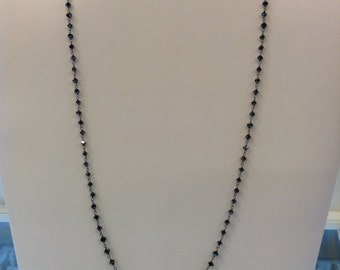 Black Diamond Wire Wrapped Chain