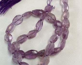 Amethyst Faceted Ovals-10x7mm