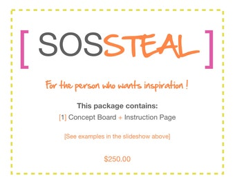 SOS STEAL e-design package
