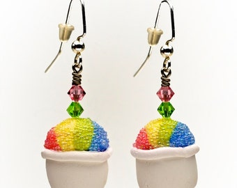 Polymer Clay New Orleans Snoball Earrings
