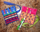 In the Hoop Square Crayon Roll for 4x4 hoop Embroidery Machine Design