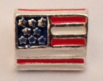 US FLAG USA European Bead Charm World Championship Olympics Bracelet