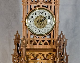 Decorative Fretwork Clock with Westminster Chime