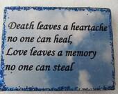 Death & Love plaque