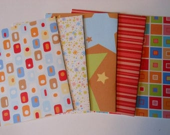 Set of 5 Bright Basic Blank Notecards with Envelopes #9125