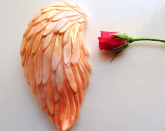 ANGEL WINGS SOAP, Ombre Orange Angel Wings, Scented in Mandarin, Vegetable Based Handmade