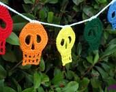 Rainbow Day of the Dead Calavera Skull Bunting / Garland