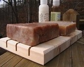 "One LONG Cedar Natural Wood Spa Soap Deck 3.25"" x 10"" Last One"
