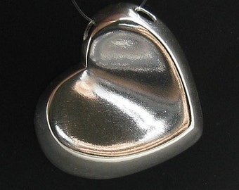 PE000691 Sterling silver pendant  solid 925  Heart