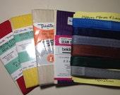 Seam binding, bias tape  rayon, cotton and polyester