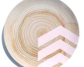 "Modern Wood Simple Chevron 10"" Melamine Plate, Lady Slipper Pink"