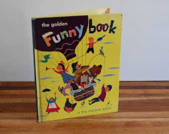 Funny Book - 1950 First Edition - Golden Books - The Golden Funny Book - Simon Schuster - Gertrude Crampton