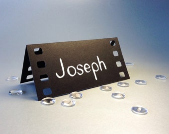 20 Place Cards, Cinema Film, Movie Themed, Holliwood, Original Calligraphy, Cutout, Scrapbook, Papercut by Naboko