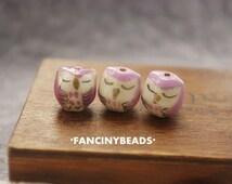 Clearance sale Free shipping-50 pcs adorable sleepy  eye owl beads