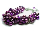 Reserved for LC On Sale Limited Time PLUM PURPLE Wedding Necklace